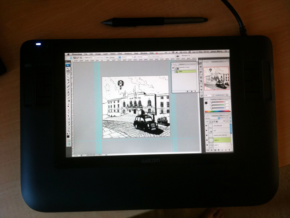 My new Wacom Cintiq 12XW is the best thing ever