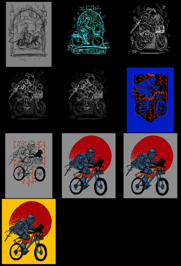 Progression of Knights on Bikes