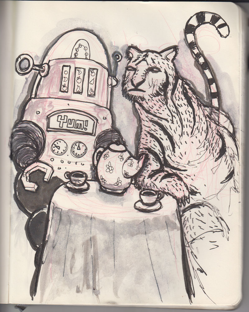 #5 Tiger and a robot who came for tea