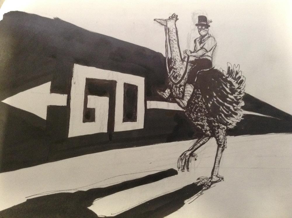 #4 Silly man on a bird